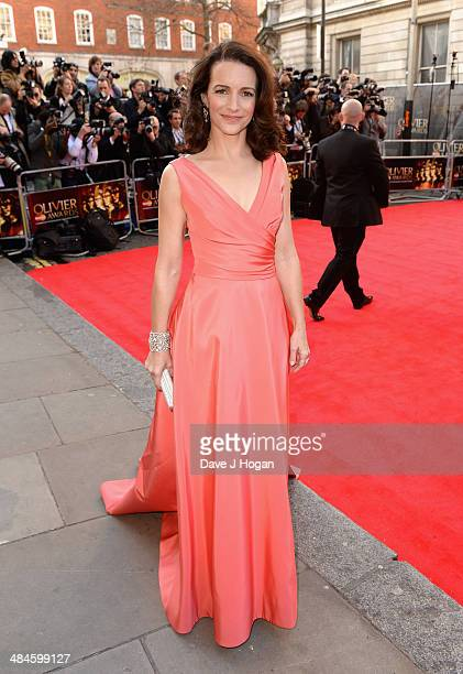 Kristin Davis attends the Laurence Olivier Awards at the Royal Opera House on April 13 2014 in London England