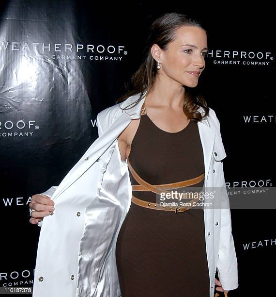 Kristin Davis during Kristin Davis Hosts 'Style in the City' Weatherproof Garment Company's Spring 2005 Preview at The Cellar Bar at The Bryant Park...
