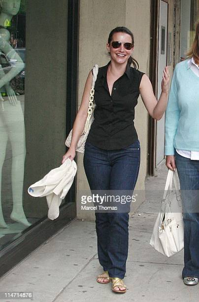 Kristin Davis during Kristin Davis Sighting in the Meat Packing District June 10 2007 at Meat Packing District in New York City New York United States