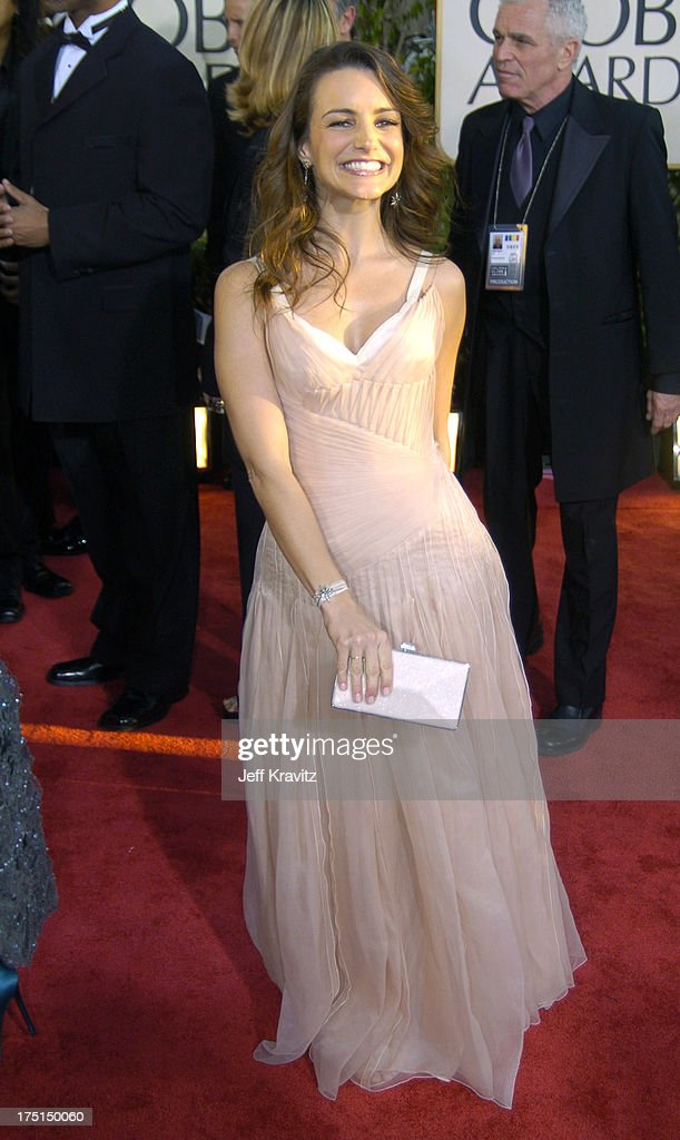 Kristin Davis during The 61st Annual Golden Globe Awards Arrivals at The Beverly Hilton Hotel in Beverly Hills California United States