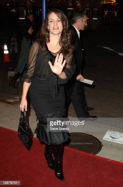 Kristin Davis during 'The Family Stone' Los Angeles Premiere Arrivals at Mann Village Theater in Westwood California United States