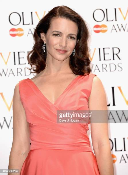 Kristin Davis during the Laurence Olivier Awards at the Royal Opera House on April 13 2014 in London England