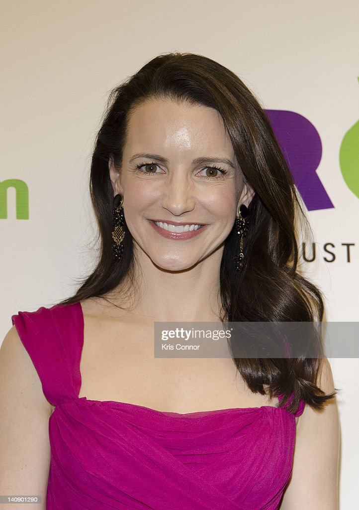 Kristin Davis poses for a photo before receiving the Oxfam Women's Leadership award during the Oxfam Sisters on the Planet Summit awards ceremony...