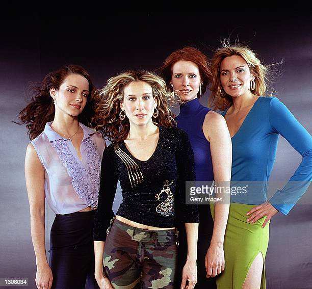 Kristin Davis Sarah Jessica Parker Cynthia Nixon and Kim Cattrall star in the comedy series 'Sex And The City' now in its third season