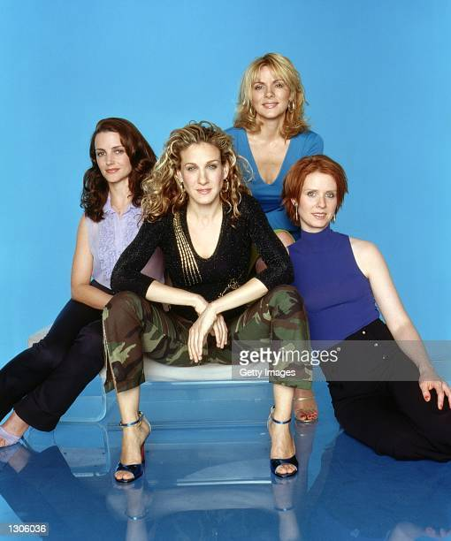 Kristin Davis Sarah Jessica Parker Kim Cattrall and Cynthia Nixon star in the comedy series 'Sex And The City' now in its third season
