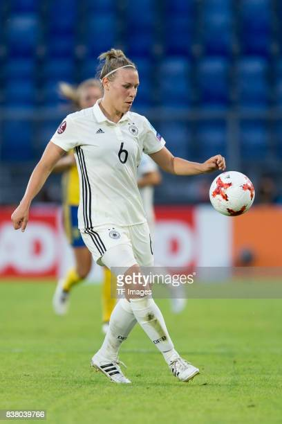 Kristin Demann of Germany controls the ball during the Group B match between Germany and Sweden during the UEFA Women's Euro 2017 at Rat Verlegh...