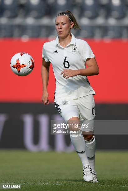 Kristin Demann of Germany controls the ball during the Women's International Friendly match between Germany and Brazil at BWTStadion am Hardtwald on...