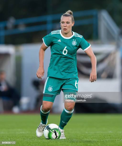Kristin Demann of Germany in action during the 2019 FIFA Women's World Championship Qualifier match between Czech Republic Women's and Germany...