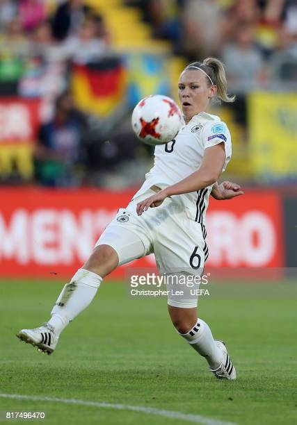 Kristin Demann of Germany in action during the UEFA Women's Euro 2017 Group B match between Germany and Sweden at Rat Verlegh Stadion on July 17 2017...
