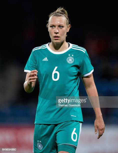 Kristin Demann of Germany reacts during the 2019 FIFA Women's World Championship Qualifier match between Czech Republic Women's and Germany Women's...