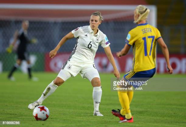 Kristin Demann of Germany Women during the UEFA Women's Euro 2017 Group B match between Germany and Sweden at Rat Verlegh Stadion on July 17 2017 in...