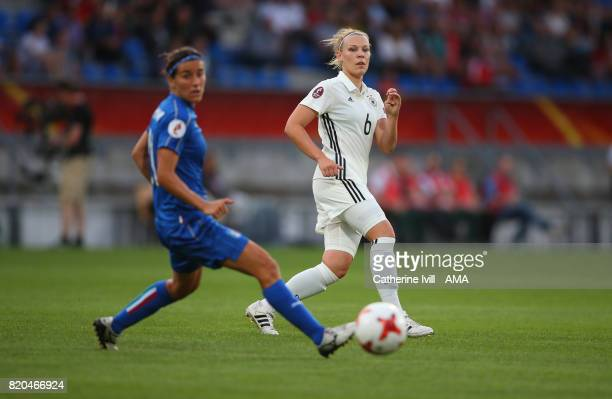 Kristin Demann of Germany Women during the UEFA Women's Euro 2017 match between Germany and Italy at Koning Willem II Stadium on July 21 2017 in...