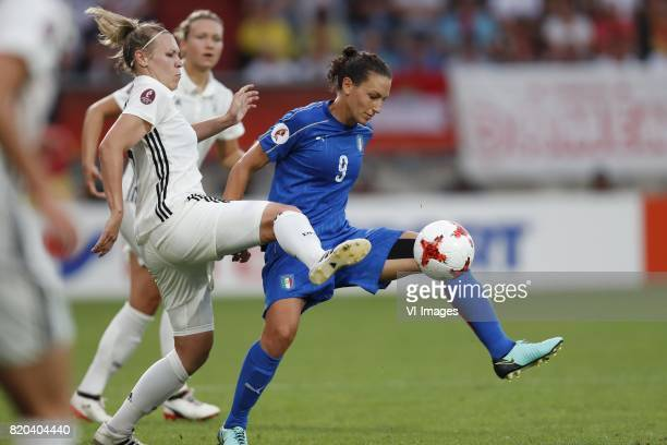 Kristin Demann of Germany women Ilaria Mauro of Italy Women during the UEFA WEURO 2017 Group B group stage match between Germany and Italy at Koning...