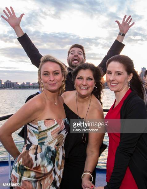 Kristin HumDell Brian Barber Jennifer Karum and Brenda Hahn the 'Conrad' series party on the Spirit of Chicago boat event showcasing the new crime...