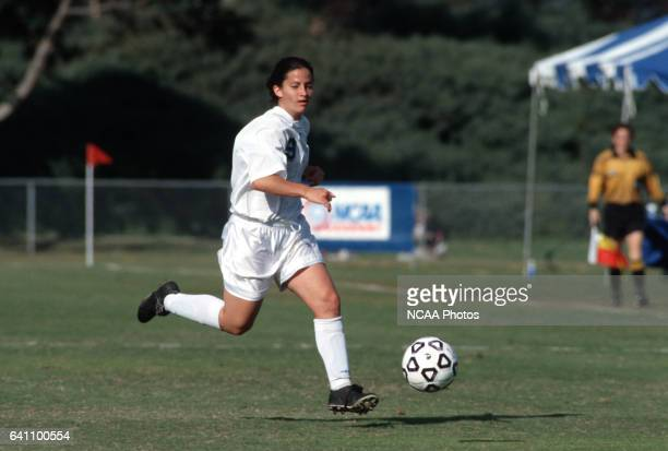 Kristin Jones of the University of CaliforniaSan Diego dribbles downfield during the Women's Division 2 Soccer Championships at Triton Stadium on the...