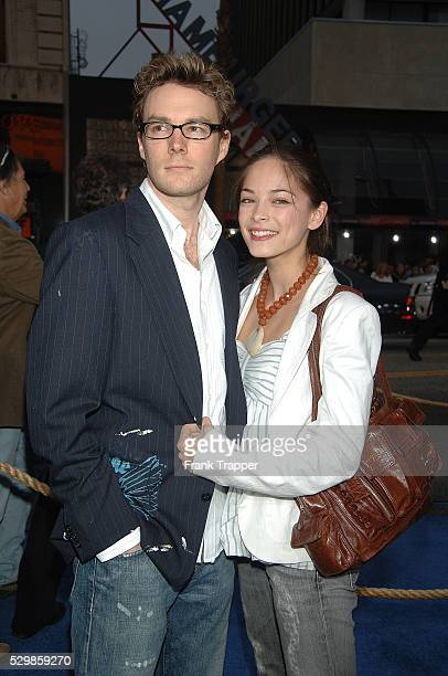 Kristin Kreuk and date arrive at the premiere of 'Poseidon' held at Grauman's Chinese Theater in Hollywood