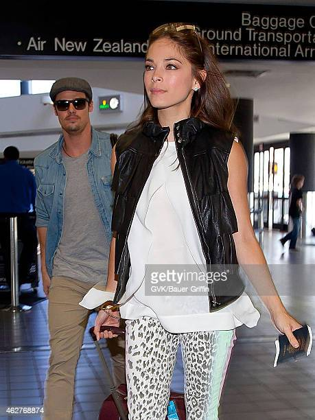 Kristin Kreuk and Jay Ryan are seen at Los Angeles International Airport on July 30 2012 in Los Angeles California