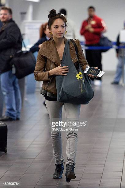 Kristin Kreuk is seen at Los Angeles International Airport on March 01 2011 in Los Angeles California