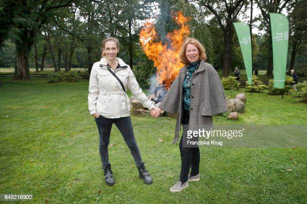 Kristin Meyer and Marion Kracht attend the Till Demtroeders CharityEvent 'Usedom Cross Country' at Schloss Mellenthin on September 9 2017 near...