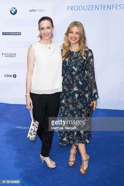 Kristin Meyer and Susan Sideropoulos attends the Summer Party of the German Producers Alliance on July 12 2017 in Berlin Germany