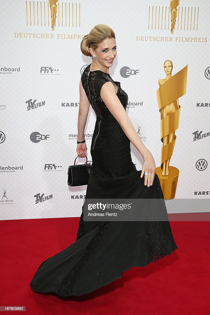 Kristin Meyer arrives for the Lola - German Film Award 2013 at Friedrichstadt-Palast on April 26, 2013 in Berlin, Germany.
