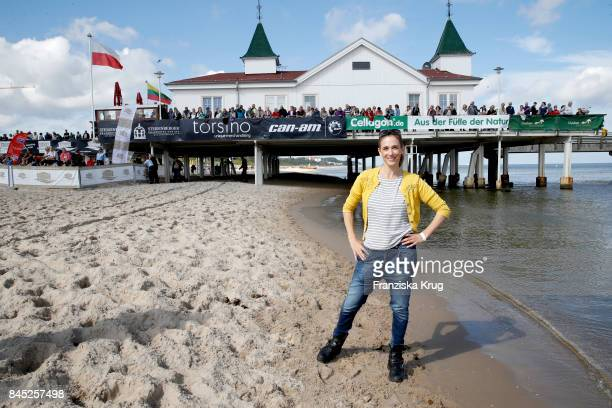 Kristin Meyer attends the Till Demtroeders CharityEvent 'Usedom Cross Country' at Seebruecke Ahlbeck on September 10 2017 near Heringsdorf at Usedom...