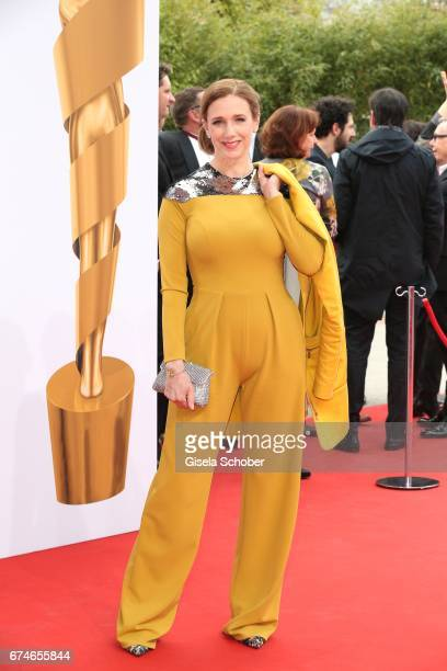 Kristin Meyer during the Lola German Film Award red carpet arrivals at Messe Berlin on April 28 2017 in Berlin Germany