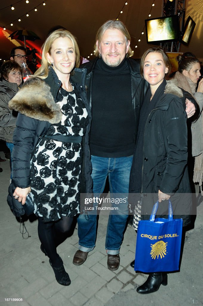 Kristin Meyer, Frank Kessler and wife attend Cirque Du Soleil Germany Premiere at Corteo Berlin - Under the Grand Chapiteau on November 29, 2012 in Berlin, Germany.
