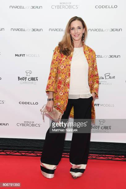 Kristin Meyer is seen during the Marcell von Berlin 'Genesis' collection presentation on July 3 2017 in Berlin Germany