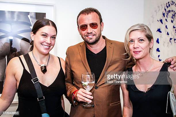 Kristin Patrick Mauro Porcini and Sheri Howell attending Adriana Lima Hosts Russell James Exhibition Opening at 212 Gallery on June 28 2013 in Aspen...