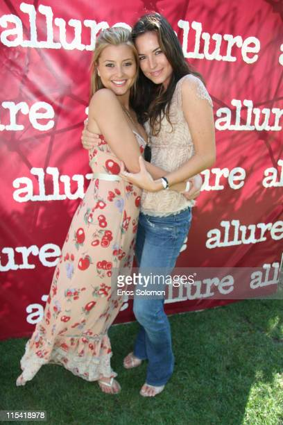 Kristin Peterson and Holly Valance during 'Allure On Location' Los Angeles Debut Presented by Allure Magazine to Benefit Clothes Off Our Back at...