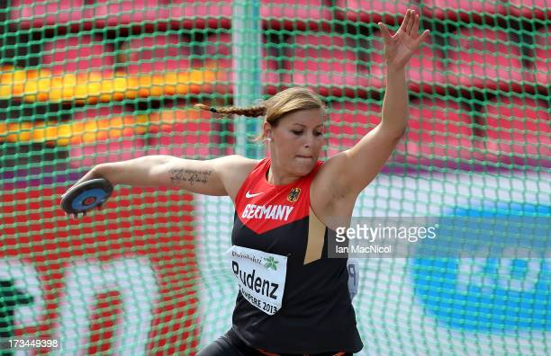 Kristin Pudenz of Germany competes in the Women's Discus Final during day four of The European Athletics U23 Championships 2013 on July 14 2013 in...