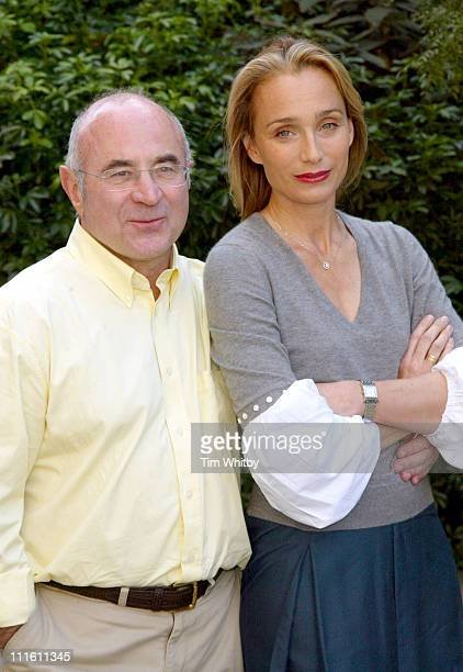 Kristin Scott Thomas and Bob Hoskins during 'As You Desire Me' Photocall at The Playhouse in London Great Britain