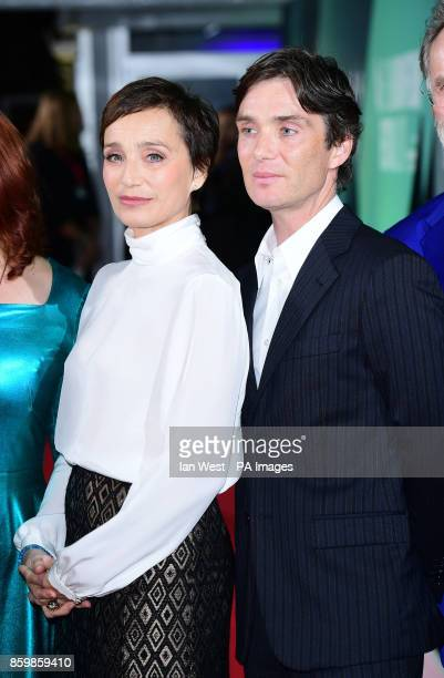 Kristin Scott Thomas and Cillian Murphy attend the premiere of The Party as part of the BFI London Film Festival at the Embankment Garden Cinema...