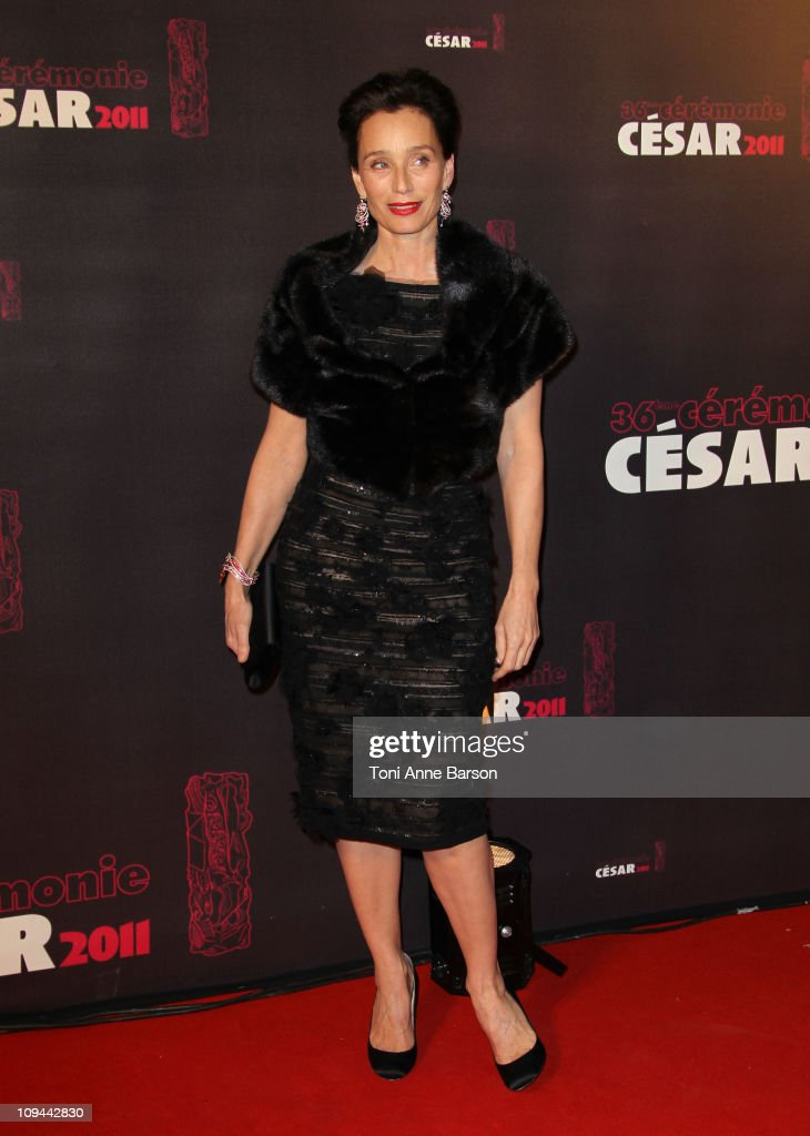 Kristin Scott Thomas arrives at the 36th Cesar Awards at Theatre du Chatelet on February 25, 2011 in Paris, France.