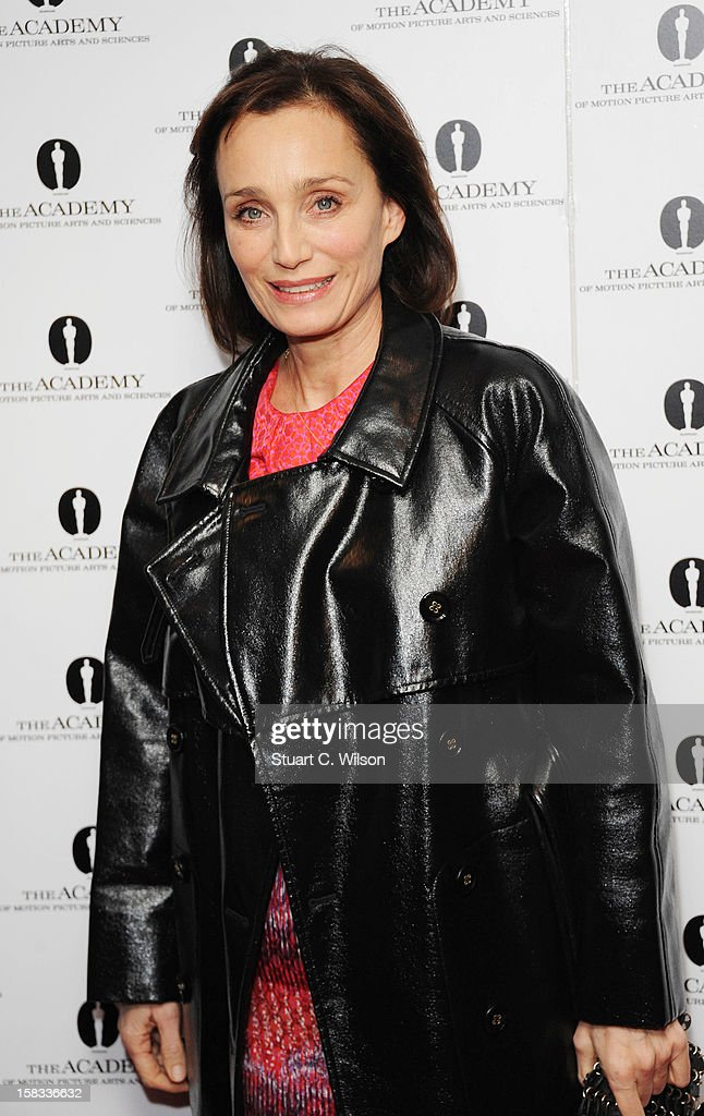 Kristin Scott Thomas attends as The Academy of Motion Picture Arts and Sciences honours director Pedro Almodovar at Curzon Soho on December 13, 2012 in London, England.