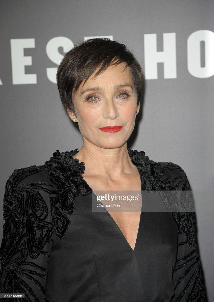 Kristin Scott Thomas attends 'Darkest Hour' New York premiere at Paris Theatre on November 15, 2017 in New York City.