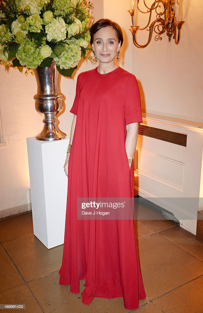 Kristin Scott Thomas attends the BFI London Film Festival Awards at Banqueting House on October 17, 2015 in London, England.