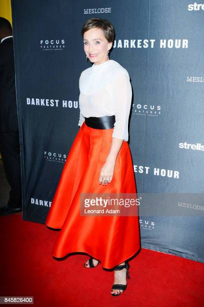 Kristin Scott Thomas attends the 'Darkest Hour' official film festival premiere party presented by Focus Features and Strellson at Westlodge Toronto...