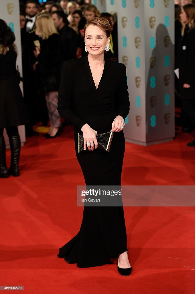 Kristin Scott Thomas attends the EE British Academy Film Awards at The Royal Opera House on February 8 2015 in London England