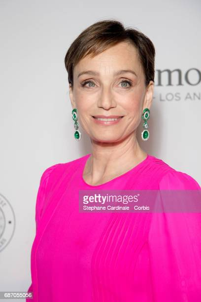 Kristin Scott Thomas attends The Harmonist Party during the 70th annual Cannes Film Festival at on May 22 2017 in Cannes France