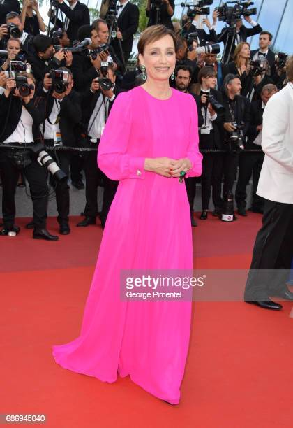Kristin Scott Thomas attends 'The Killing Of A Sacred Deer' screening during the 70th annual Cannes Film Festival at Palais des Festivals on May 22...