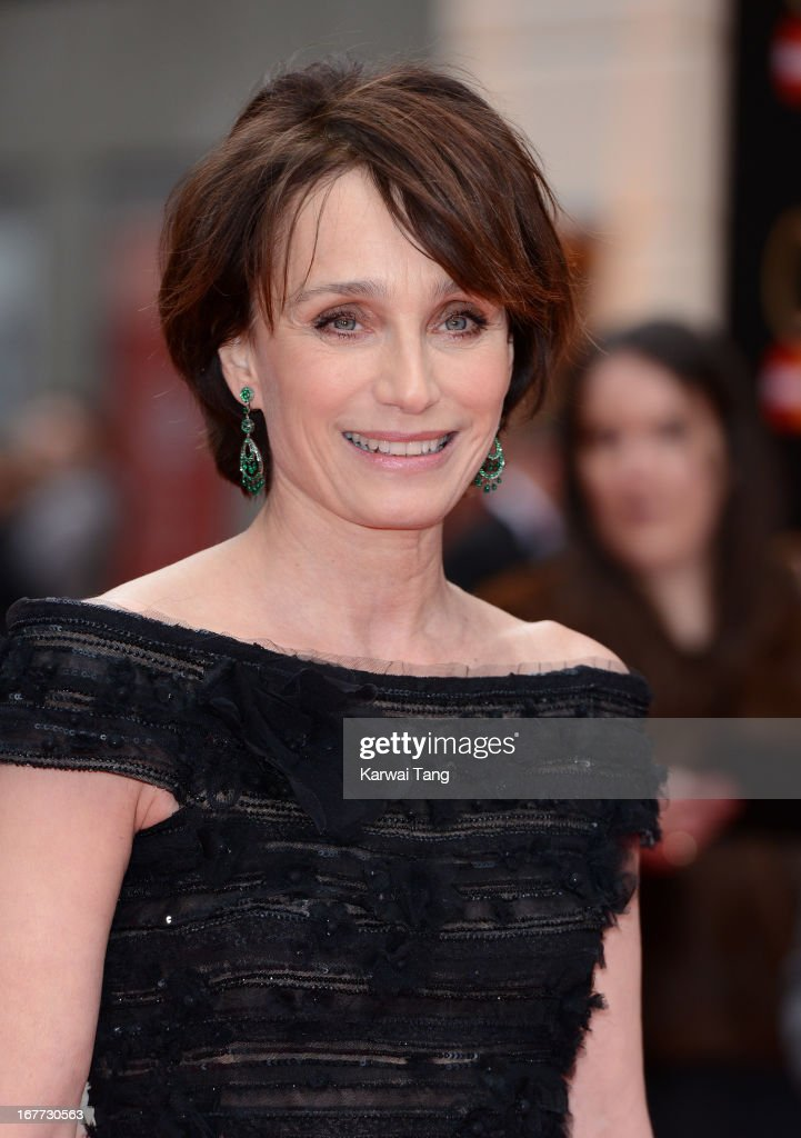 Kristin Scott Thomas attends The Laurence Olivier Awards at The Royal Opera House on April 28, 2013 in London, England.