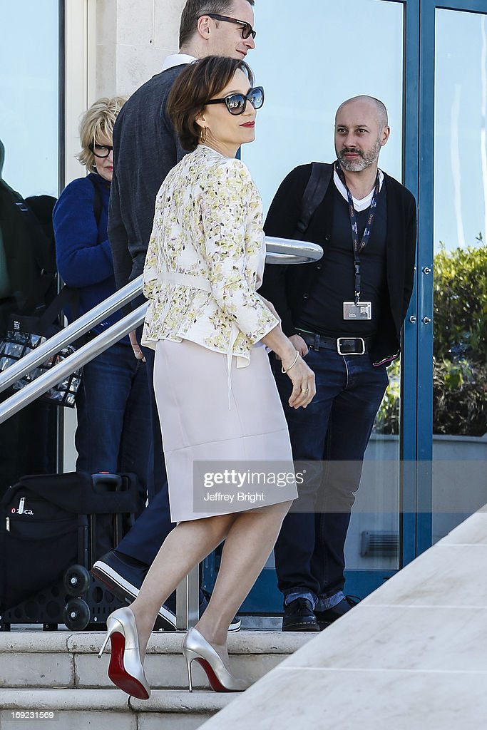 Kristin Scott Thomas attends the 'Only God Forgives' Photocall during the 66th Annual Cannes Film Festival on May 22 2013 in Cannes France