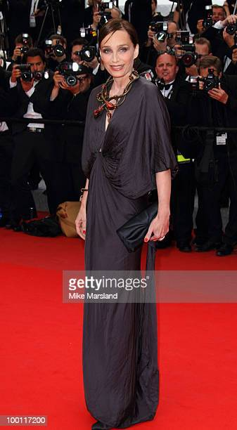 Kristin Scott Thomas attends the 'Outside the Law' Premiere at the Palais des Festivals during the 63rd Annual International Cannes Film Festival on...