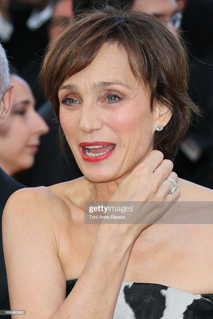 Kristin Scott Thomas attends the premiere of 'The Immigrant' at The 66th Annual Cannes Film Festival on May 24, 2013 in Cannes, France.