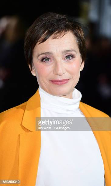Kristin Scott Thomas attends the premiere of The Party as part of the BFI London Film Festival at the Embankment Garden Cinema London