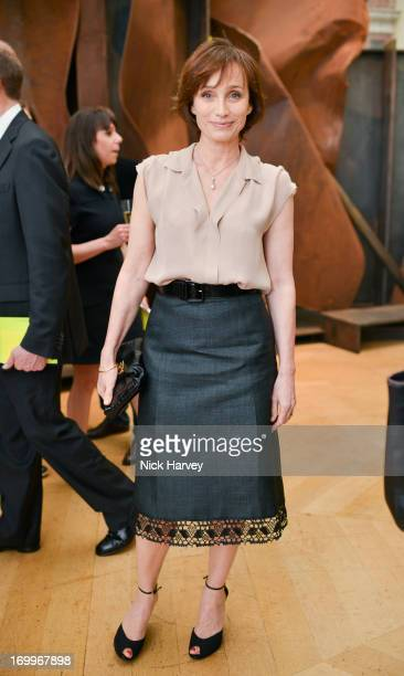 Kristin Scott Thomas attends the preview party for The Royal Academy Of Arts Summer Exhibition 2013 at Royal Academy of Arts on June 5 2013 in London...