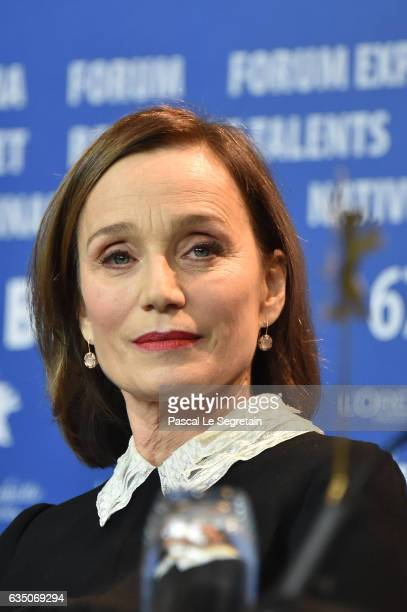 Kristin Scott Thomas attends the 'The Party' press conference during the 67th Berlinale International Film Festival Berlin at Grand Hyatt Hotel on...