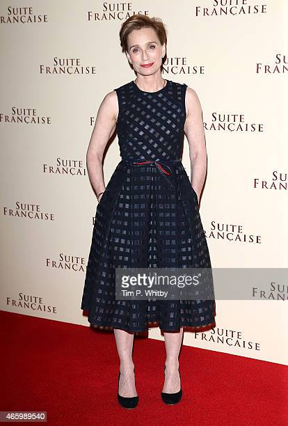 Kristin Scott Thomas attends the UK Gala screening of 'Suite Francais' at The Mayfair Hotel on March 12 2015 in London England